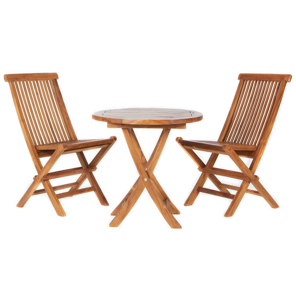 All Things Cedar TS26-set 3Pc. Teak Bistro Set - Outdoor Patio Supply - 1