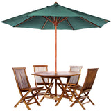 All Things Cedar TT6P 6pc. Folding Table Dining Set - Outdoor Patio Supply - 1