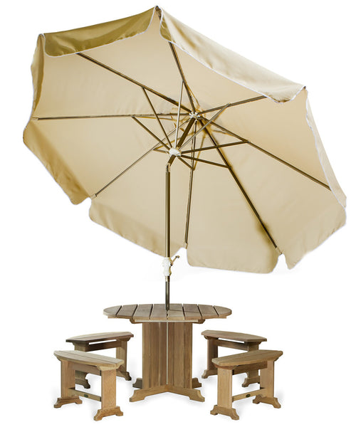 All Things Cedar UB33 Patio Umbrella in Tan, Blue, Lime - Outdoor Patio Supply - 1