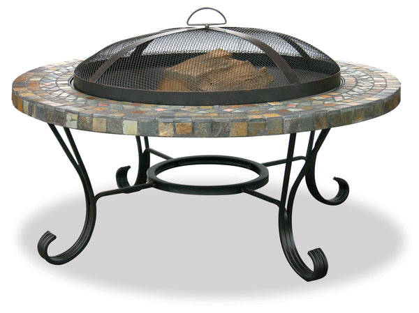 Garden Treasures WAD931SP Slate Tile/Copper Outdoor Fire Bowl - Outdoor Patio Supply