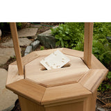 All Things Cedar WWC60 Slotted Gift Lid for Large Wishing Well - Outdoor Patio Supply