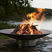 Fire Pit Art Bella Vita Steel Constructed Wood Burning Fire Pit - Outdoor Patio Supply