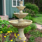 Sunnydaze Classic 3 Tier Designer Outdoor Water Fountain - Outdoor Patio Supply - 1