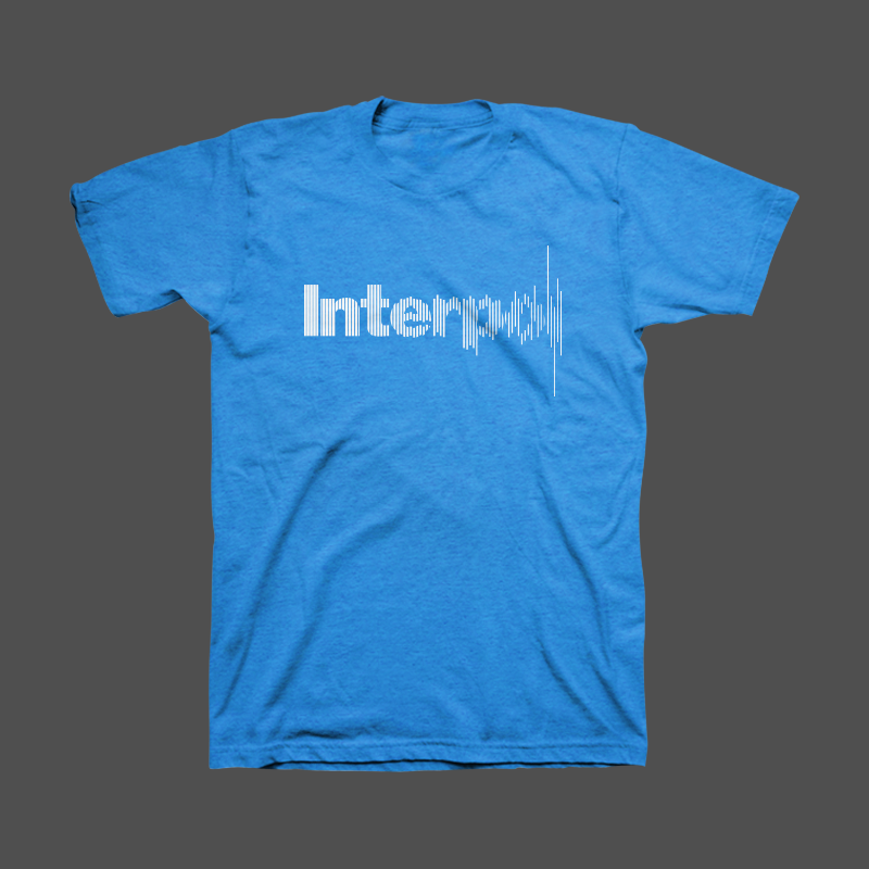 Disruption Unisex Tee (Blue) - Interpol