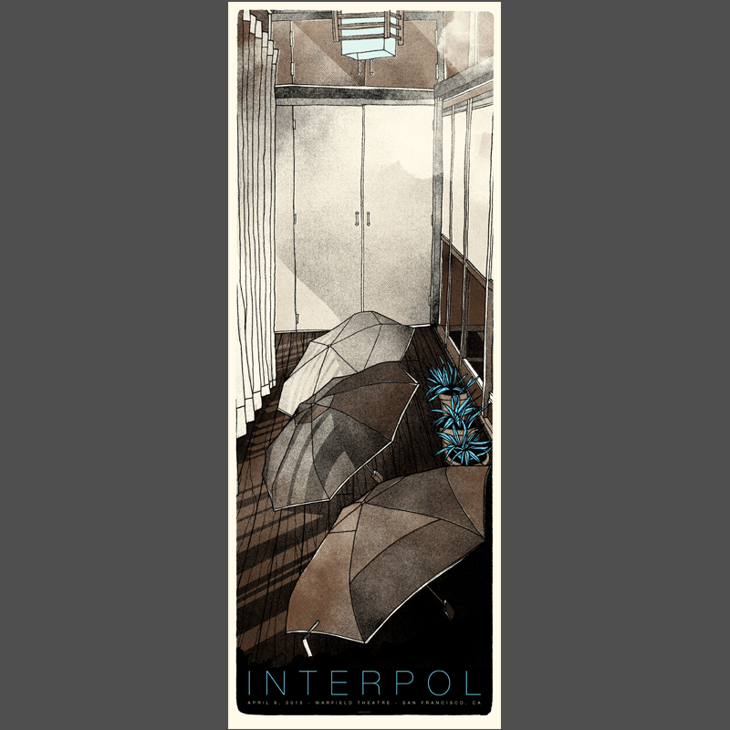 San Francisco Show Poster 4/21/15 - Interpol