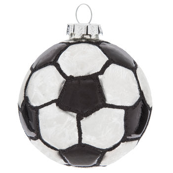 Soccer Ball Christmas Holiday Ornament