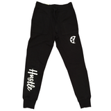 HUSTLE Black Fleece Joggers - soccergrlprobs