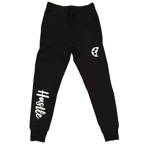 HUSTLE Black Fleece Joggers