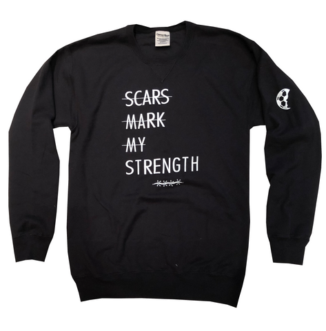 Scars Mark My Strength Lifestyle Crewneck