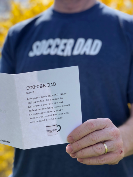 Soccer Dad Definition Father's Day Card - soccergrlprobs