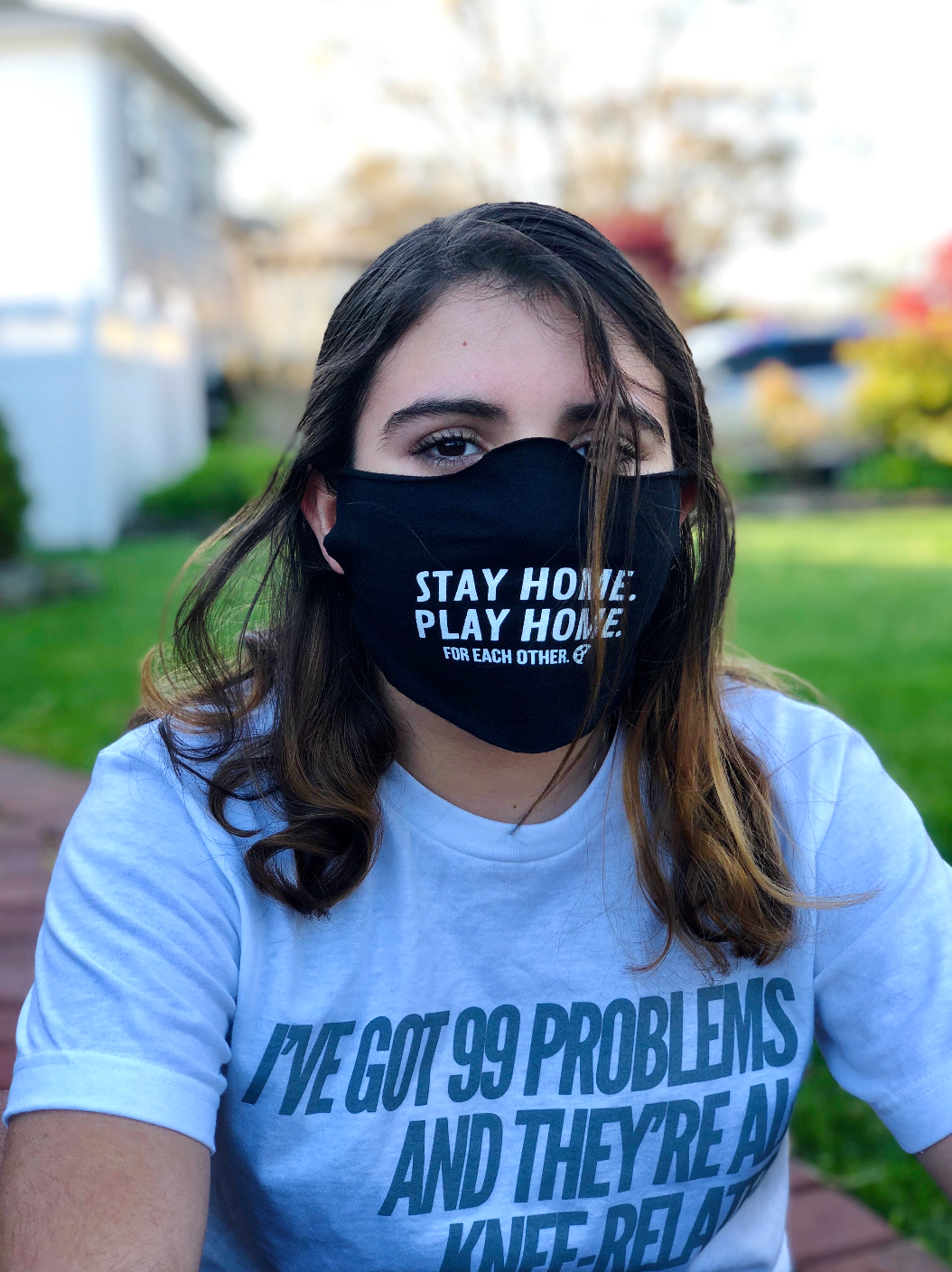Stay Home, Play Home Daily Face Mask - soccergrlprobs