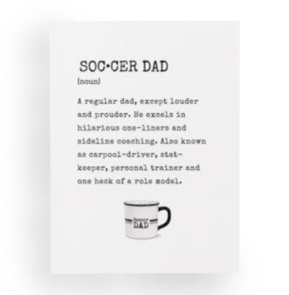 Soccer Dad Definition Father's Day Card