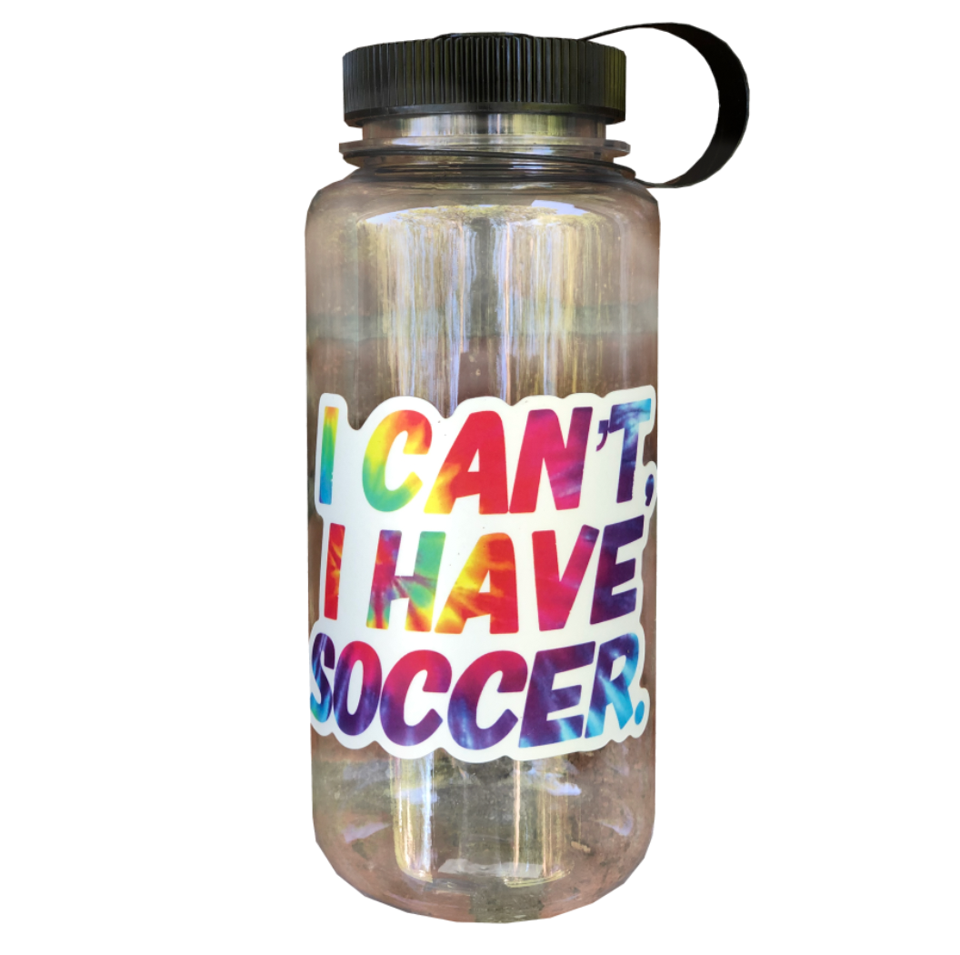 30 oz I Can't I Have Soccer Clear Tritan Water Bottle