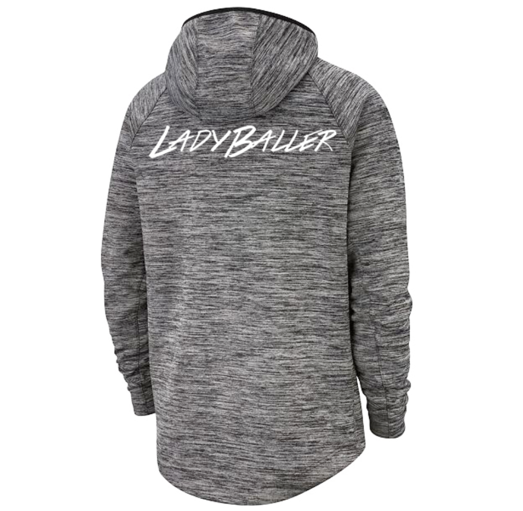 Ladyballer Nike Zip Up Heather Grey Hoodie