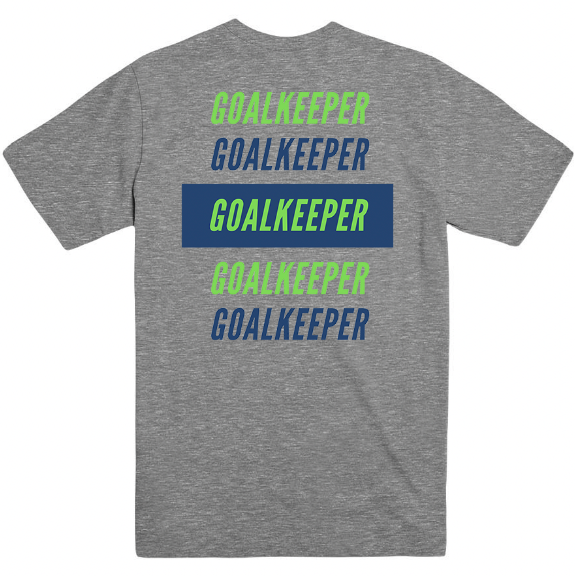 Goal Keeper Goalie Grey T-Shirt Soccer Girl Shirt