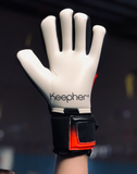 keepher goalie keeper gloves red and black made for female soccer player