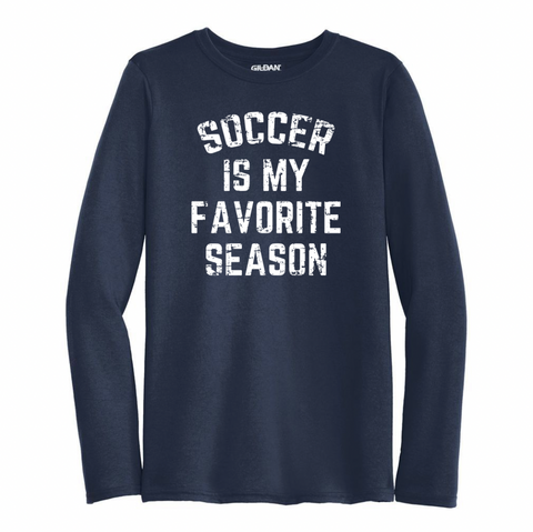 Soccer Is My Favorite Season Performance Long Sleeve Shirt