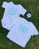 Born To Play Newborn Onesie and Toddler Tee