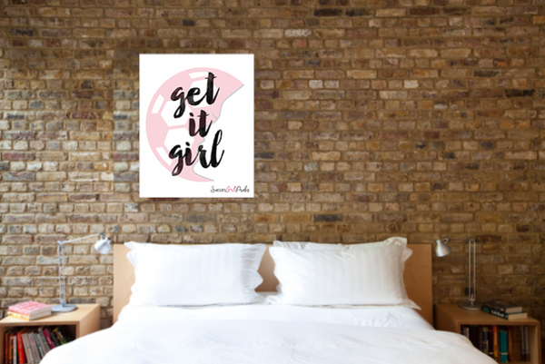"Get-It-Girl Poster 16"" x 20"" - soccergrlprobs"