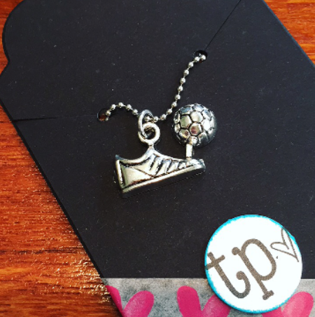 Soccer Cleat Charm Necklace