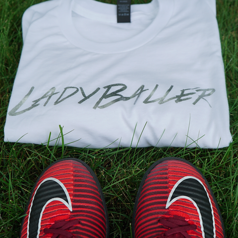 LADYBALLER Metallic T-Shirt