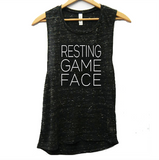 Resting Game Face Muscle Tank - soccergrlprobs