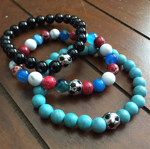 Beaded Soccer Bracelet