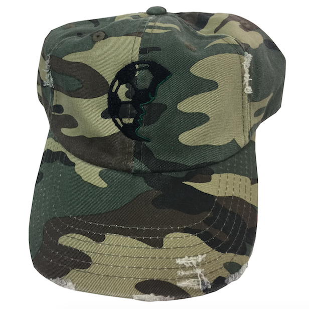 Distressed Camo Embroidered Baseball Hat