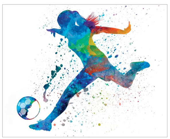 "Watercolor Soccer Poster 16"" x 20"" - soccergrlprobs"