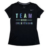 TEAM OVER EVERYTHING Nike DriFit T-Shirt - soccergrlprobs