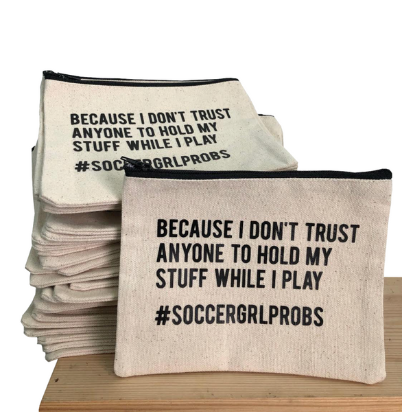 Canvas Jewelry Bag - soccergrlprobs