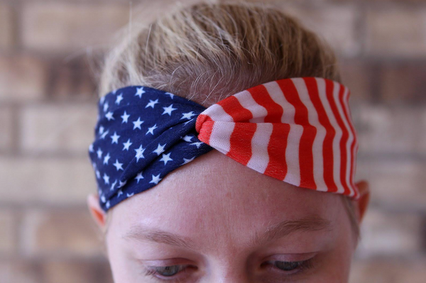 American Flag Twist Headband - soccergrlprobs