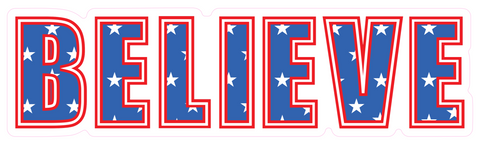 Believe USA Sticker