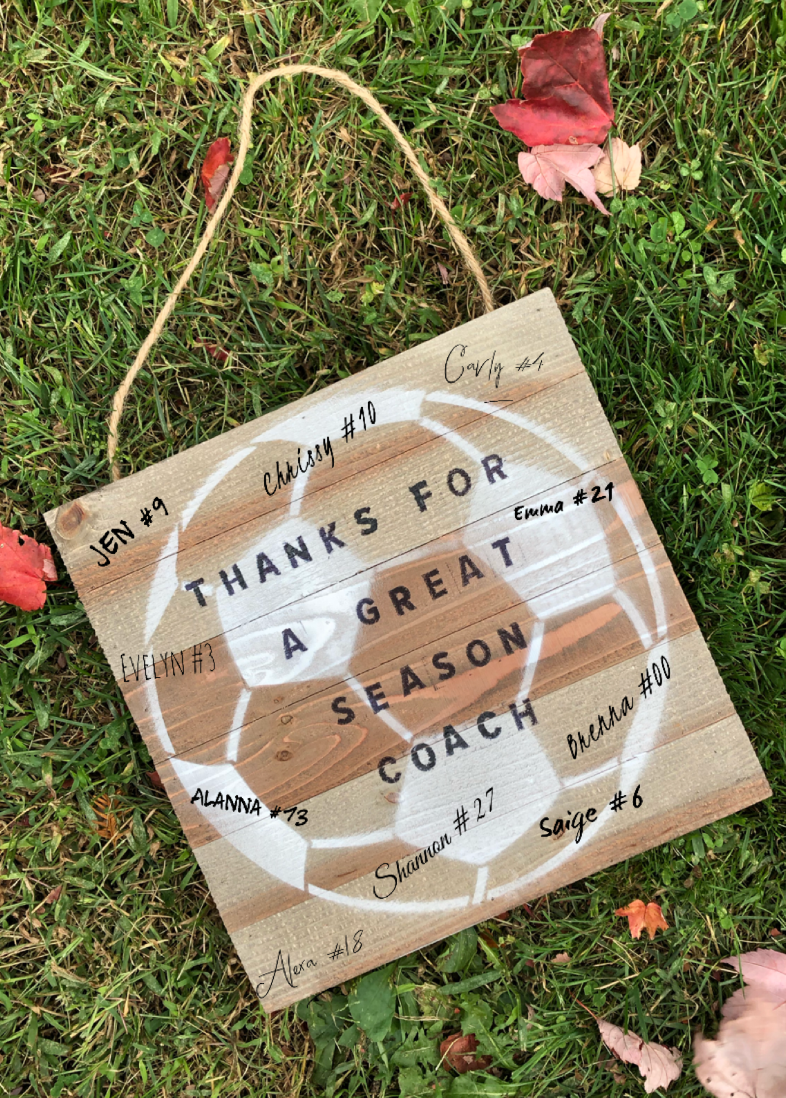 Customizable Wood Sign Gift - soccergrlprobs