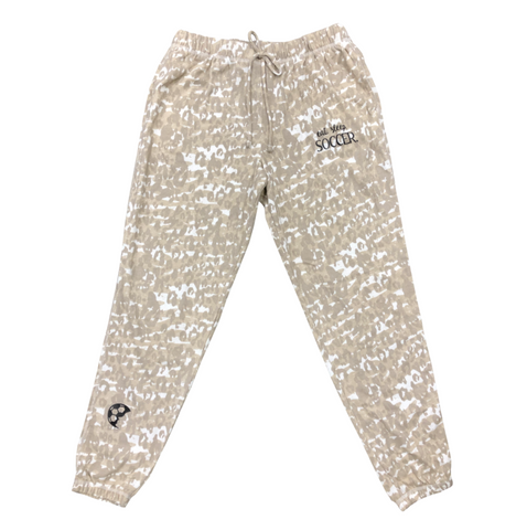 EAT SLEEP SOCCER Cheetah Lounge Pants
