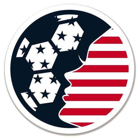 SoccerGrlProbs American Flag Circle Sticker