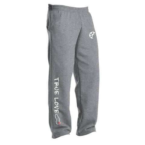 True Love Open-Bottom Sweatpants
