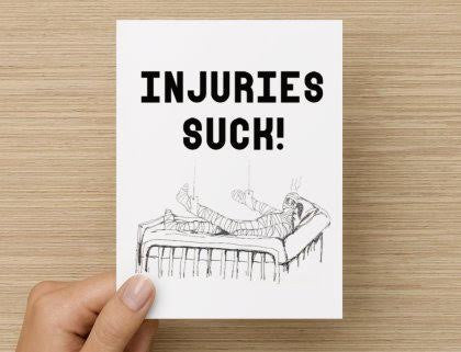 SGP Sorry You're Injured Card - soccergrlprobs