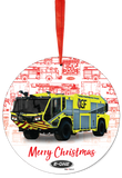 E-ONE 2019 Fire Truck Christmas Tree Ornament