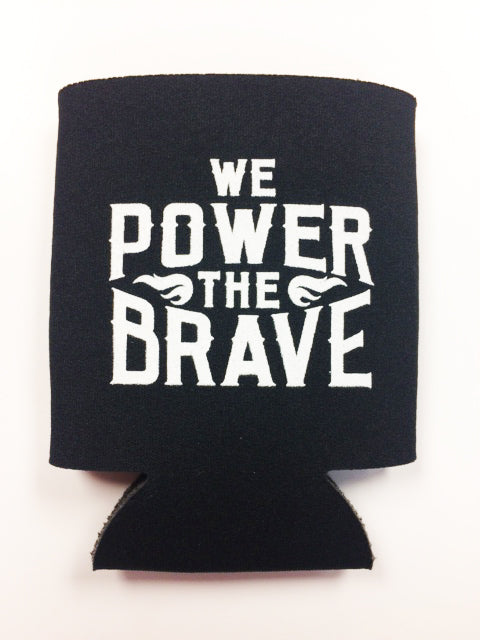 Black Koozie We Power the Brave