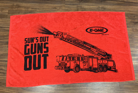 E-ONE Fire Truck Beach Towel