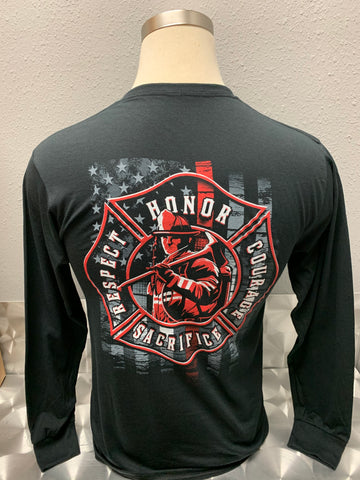 Firefighter/Thin Red Line Long Sleeve T-Shirt