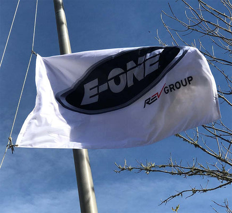 Flag with E-ONE Logo