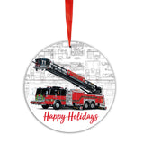 E-ONE 2020 Fire Truck Christmas Tree Ornament