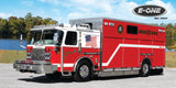E-ONE Fire Truck Metal Prints