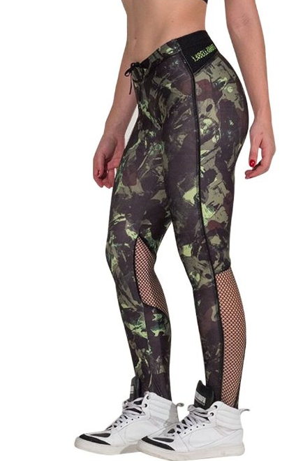 Camo and Mesh Leggings