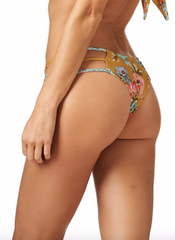 Gold Floral Euro String Bottom