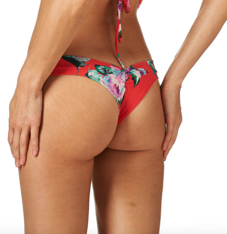 Red Floral Uno Bottom