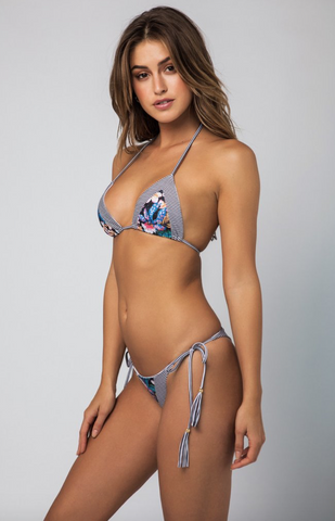 Rayas Mix-Up Tassel Tie Side Bikini Bottom
