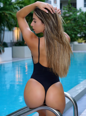 Black One Piece Scrunch
